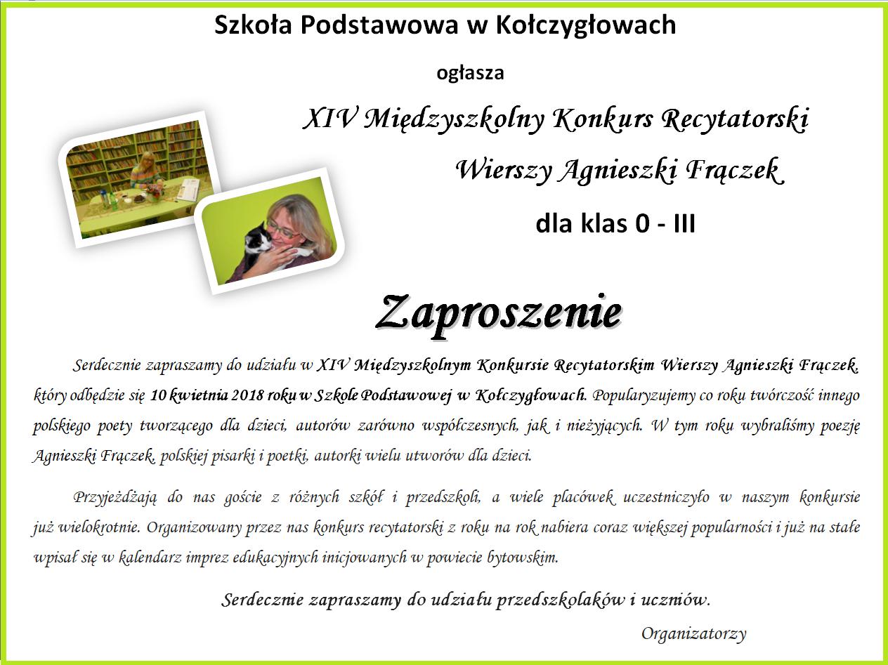 Konkursy Szkoła Podstawowa W Kołczygłowach