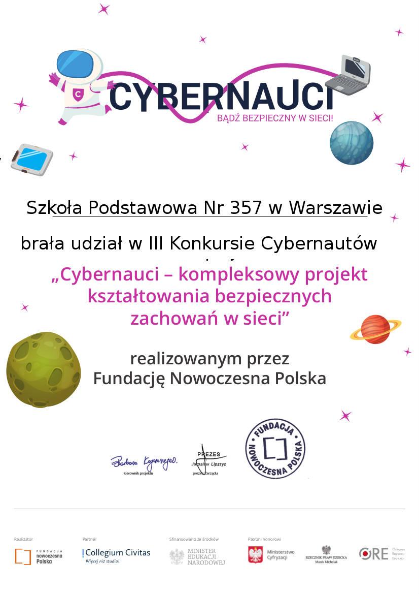 Podsumowanie udziału naszej szkoły w projekcie Cybernauci - Obrazek 1