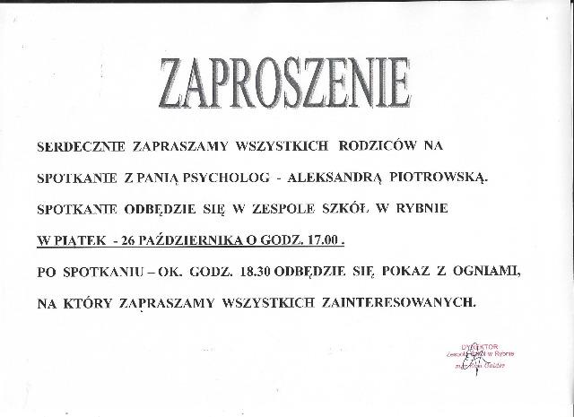 Ważne Wydarzenia Zespół Szkół W Rybnie Ul Sportowa 24
