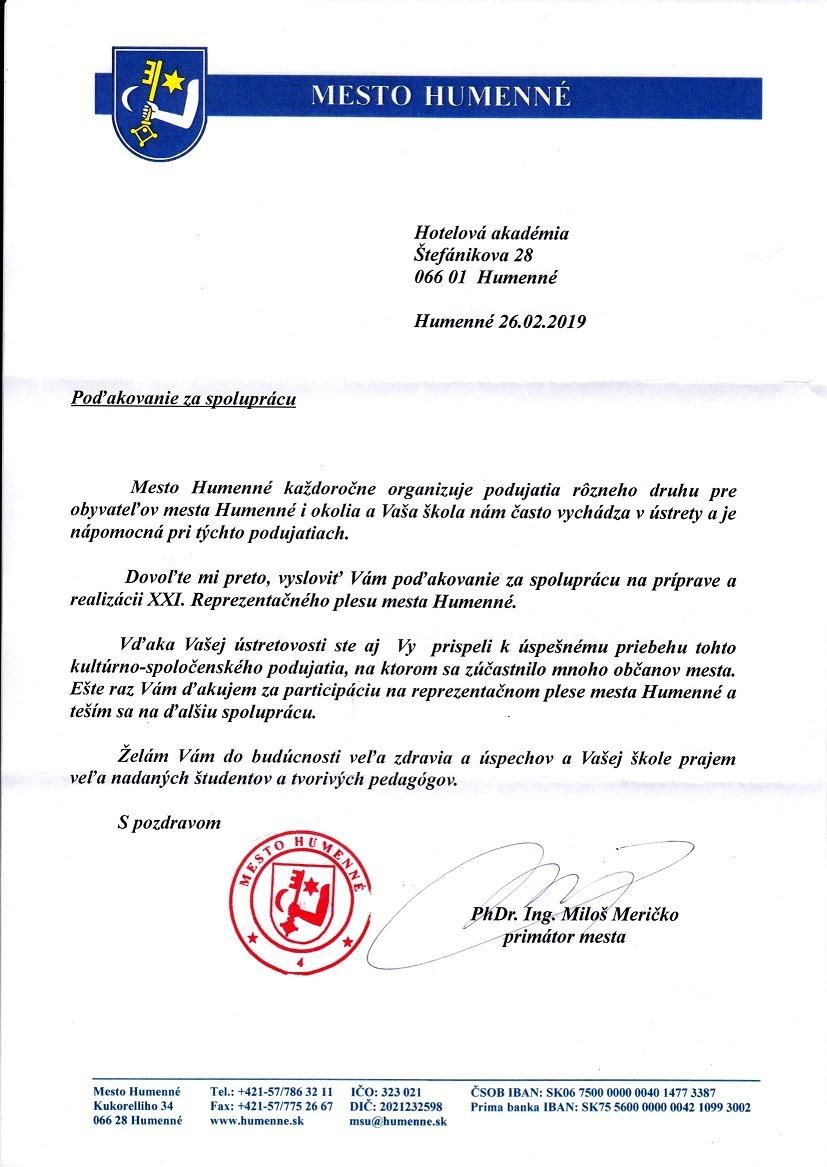 83afd65bb Aktivity školy | Hotelová akadémia, Štefánikova 28, Humenné