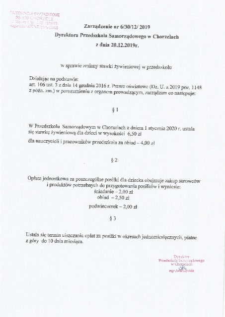 Aktualności Przedszkole Samorządowe W Chorzelach